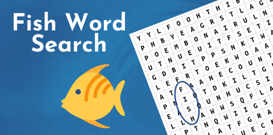 Fish Learning Fridays | Fish Word Search