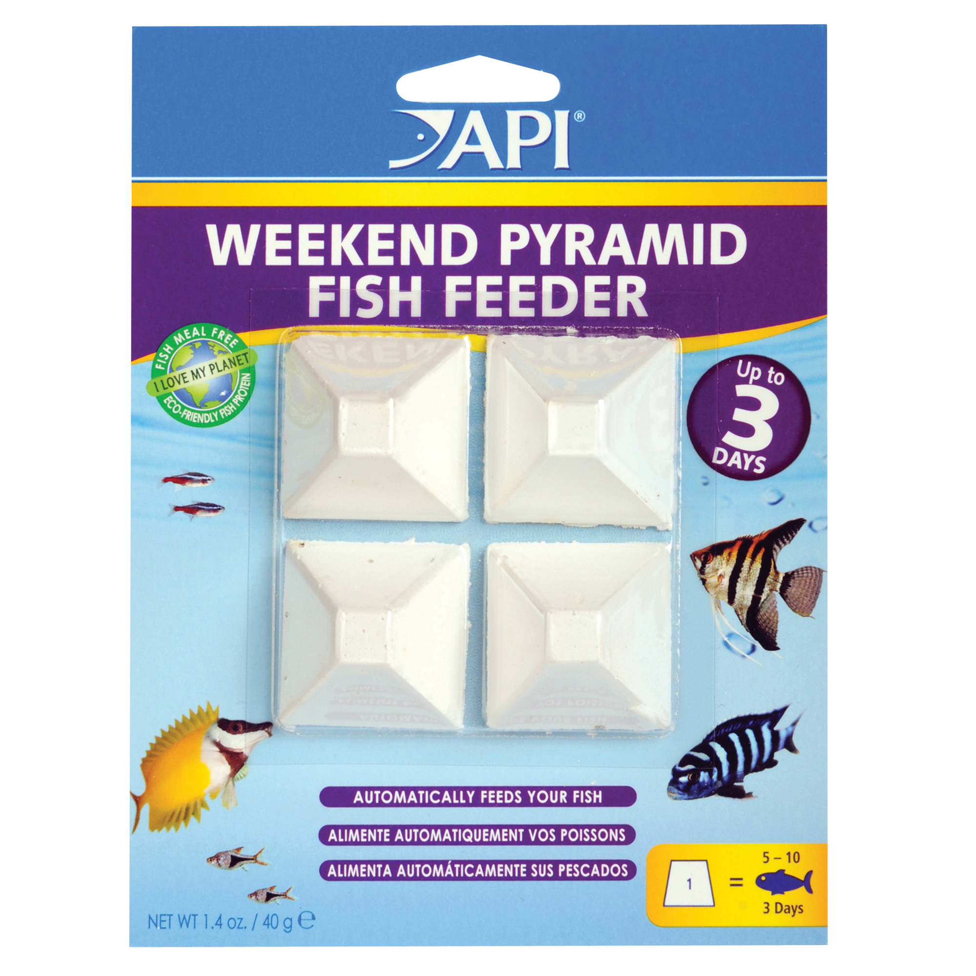 WEEKEND PYRAMID FISH FEEDER